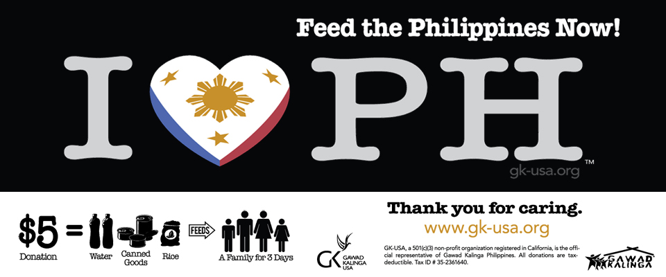 GK-usa.org, Help Feed the Philippines Now