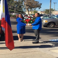 Hon. Mayor Alejandra Sotelo-Solis, Mayor of National City and Philippine Honorary Consul Audie de Castro headed the wreath laying ceremony.