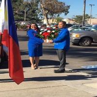 Hon. Mayor Alejandra Sotelo-Solis, Mayor of National City and Philippine Honorary Consul Audie de Castro headed the wreath laying ceremony.